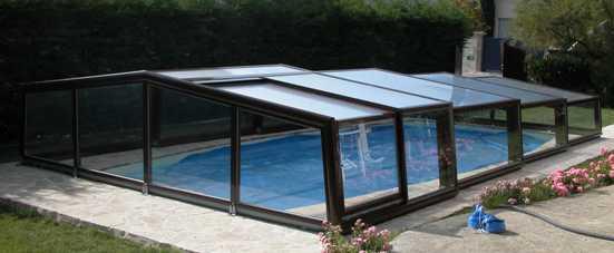 Abri piscine bas élégant VENUS
