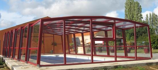 L'abri piscine haut 5 angles olympia à la couleur de votre choix