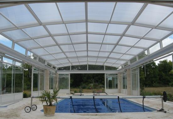 Abri pool bottom and walls 5 angles blanc